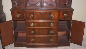 Break Front Cabinet Two Piece Mahogany Breakfront China Cabinet