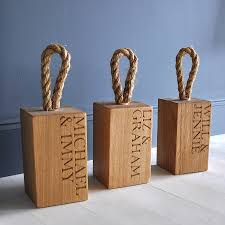 Door Stops Personalised Oak Doorstop By The Oak U0026 Company