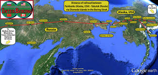 Alaska Map In Usa by Interbering International Bering Strait Tunnel And Railroad