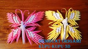 cara membuat origami hello kitty 3d cara membuat origami kupu kupu 3d origami butterfly 3d youtube