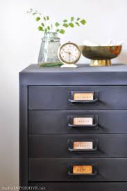 Chalk Paint On Metal Filing Cabinet Chalkboard Paint Filing Cabinet Hack The Painted Hive The