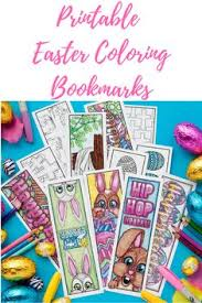 printable easter bookmarks to colour free printable easter coloring bookmarks easter colouring free