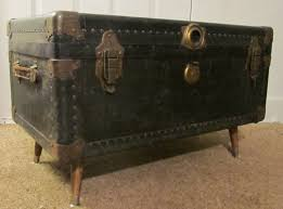 Vintage Trunk Coffee Table Coffee Table Vintage Trunk On Wheels With Decoupaged Map Of The
