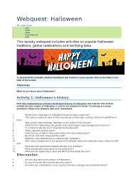 halloween webquest activities trick or treating halloween