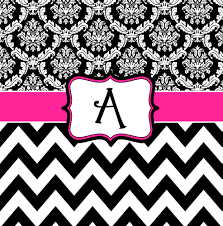 Pink Chevron Bathroom Set by Damask And Chevron Pink Black And White Personalized