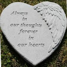 garden memorial stones forever in our hearts angel wing garden kb 08905 25 90
