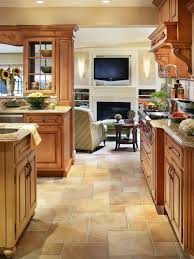 tile kitchen floors ideas tile ideas for kitchen floors with oak cabinets morespoons