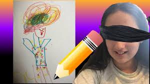 drawing blindfolded challenge halloween ed youtube