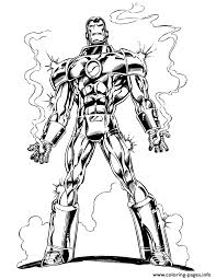 marvels iron man coloring pages printable