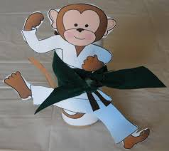 karate monkey paper roll craft printables kraftykid