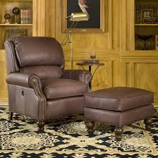 Smith Brothers 950 Tilt Back Chair And Ottoman Combination At