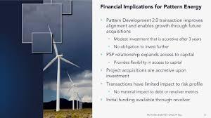 pattern energy debt pattern energy pegi investor presentation slideshow pattern