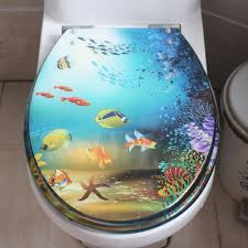 Popular Decorative Toilet Seats Underwater World Pattern Seat