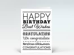 geburtstagskarten design geburtstagskarte happy birthday typografisch schwarz weiß