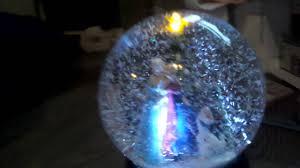 light up snow globe frozen light up snowglobe sings let it go youtube