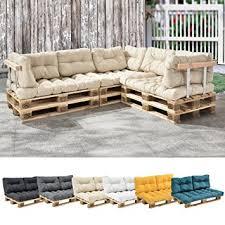 rembourrage canapé en casa 1x coussin de siège pour canapé de palette crème