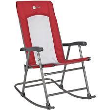 Red Rocking Chairs Folding Mesh Rocking Chair