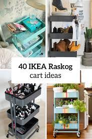 ikea raskog utility cart 40 smart ways to use ikea raskog cart for home storage digsdigs