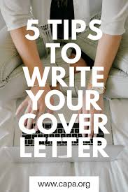 5 tips to write your cover letter