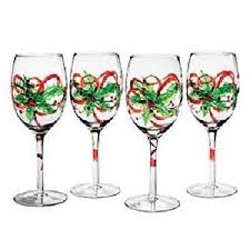christmas glasses christmas painted wine glasses by clearly susan