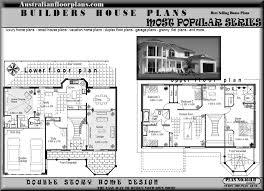two storey residential floor plan story house plans floor australian house plans 72486