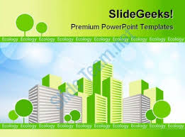 green apartment architecture powerpoint templates and powerpoint