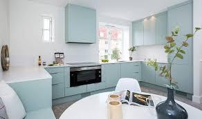 cuisine bleu pastel design interieur relooking cuisine decorer armoires bleu pastel