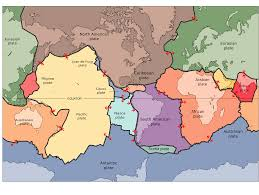 World Continents And Oceans Map by Continent