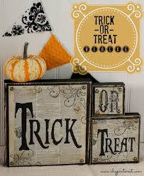 hobby lobby halloween crafts diy trick or treat wood blocks i dig pinterest
