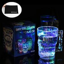 imagenes de calaveras que cambian de color vaso led yokkao taza estilo calavera con sensor de luz led
