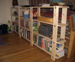 Building Wood Bookcase by Cheap Easy Low Waste Bookshelf Plans Shelf System Trestle