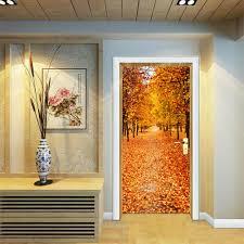 online get cheap door vinyl wallpaper aliexpress com alibaba group 77x200cm 3d door wall sticker diy home decor art mural creative vinyl wallpaper waterproof wooden autumn