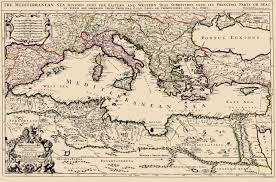 Mediterranean Sea World Map by Old Mediterranean Map Mediterranean Sea Region Berry