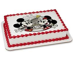 Red Minnie Mouse Cake Decorations Cakes Com Order Cakes And Cupcakes Online Disney Spongebob