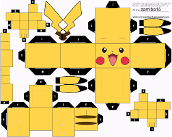 pikachu cubeecraft by zamiba15 christmas gift wrapping cards