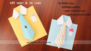 shirt u0026 tie greeting card for birthday father u0027s day youtube