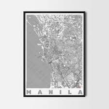 manila gift map art prints and posters home decor gifts