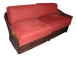 Red Sofa Set Png Mcguire Leather Rattan Sofa Chairish