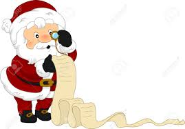 illustration of santa u0027s christmas list stock photo picture and