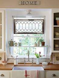 Kitchen Window Decor Ideas Tiny Cute Kitchen Window Treatment Ideas With Meta Wire Home