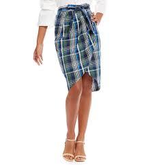 plaid skirt gianni bini blair tie front plaid skirt dillards