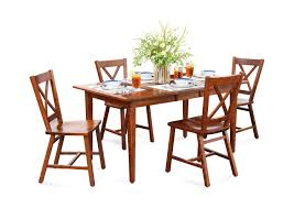 eagle mountain cherry dining table with 4 side chairs hom furniture