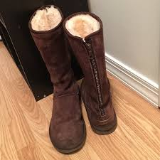 ugg boots sale boxing day ugg boots brown ugg boots with zipper up back worn but