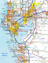 Map Of Florida State Parks by Highways And Roads Map Of Tampafree Maps Of Us