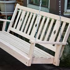 Outdoor Patio Swing by Beecham Swing Co Flatbottom Oak Porch Swing Walmart Com