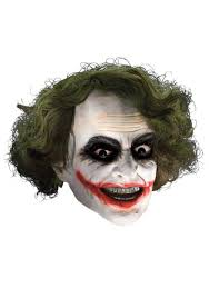 Dark Knight Joker Halloween Costume Deluxe Joker Mask With Hair