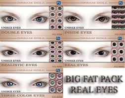 second life marketplace dd big fat pack real eyes 1 template