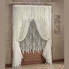 Cheap Window Curtains by Creative Ideas Lace Curtains Easy Style Carly Lace Curtain Panel