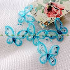 butterfly for hair wire butterfly picture more detailed picture about 5 3cm glitter