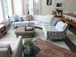 Grey Sofa Sectional by Furniture Grey Upholstered Deep Sectional Sofa With Wicket Rattan